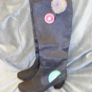 Desigual Signature Knee Boots